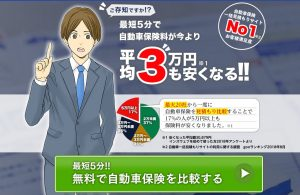 最短5分で自動車保険料が今より平均3万円も安くなる!!